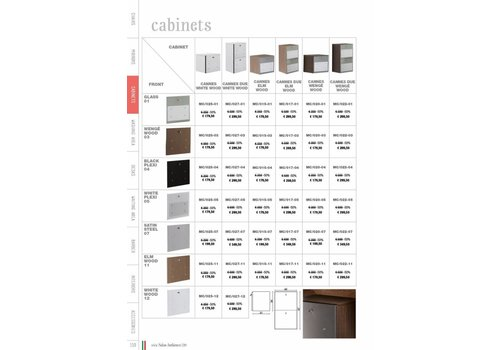 Salon Ambience Cannes Due Cabinet Wenge, Glass Fronts