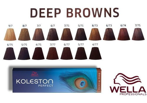 Wella WELLA KOLESTON DEEP BROWNS 4/77 60ML