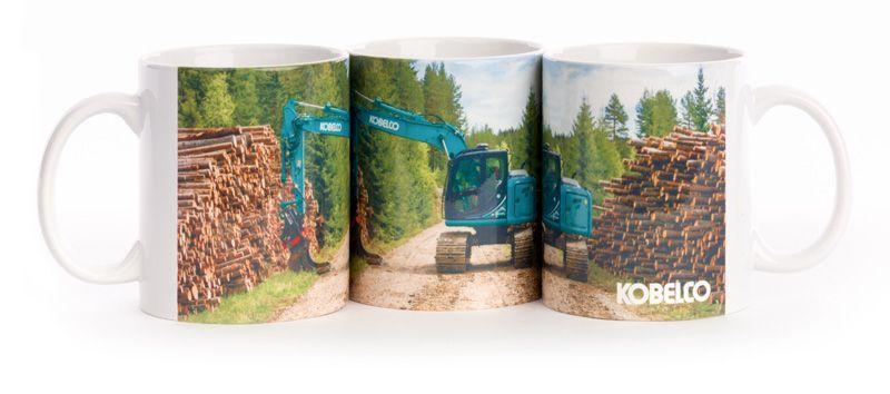 Kobelco Kaffeetasse mit Bagger