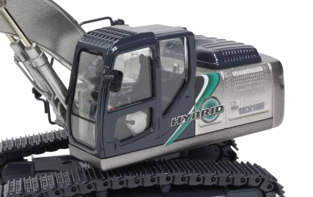 Kobelco Schaalmodel SK210HLC-10 Silver long crawler