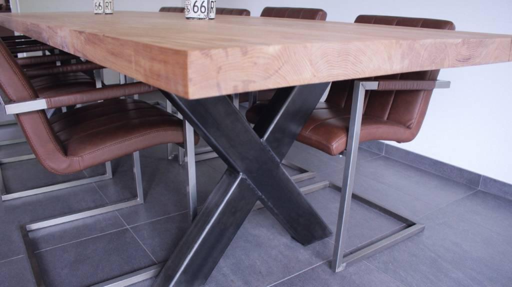 Tafel X Poot : De webshop voor industriele tafels en stalen onderstellen erik