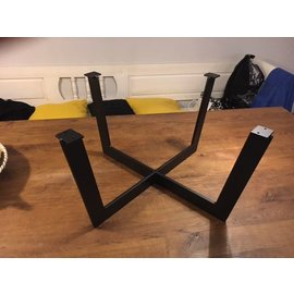 Stalen frame salontafel(kruis)