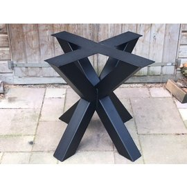 Onderstel Dubbele X-poot koker 10 x 10  cm.