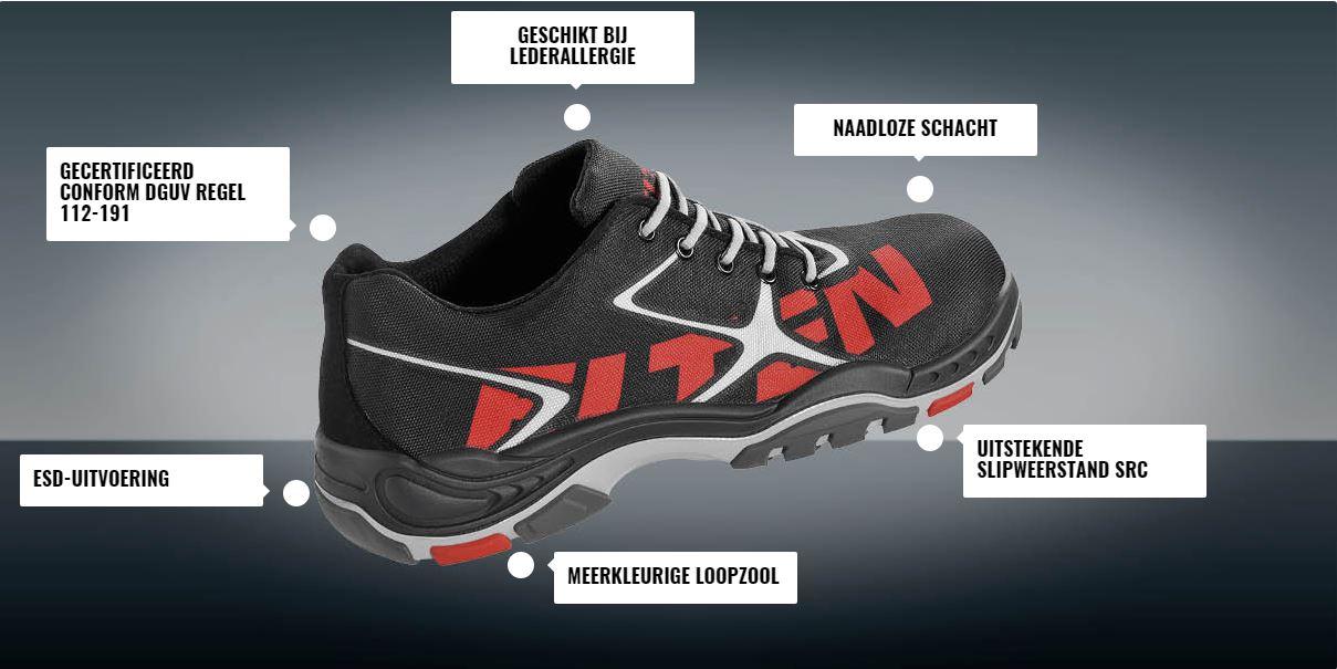 sportieve werkschoenen trainers