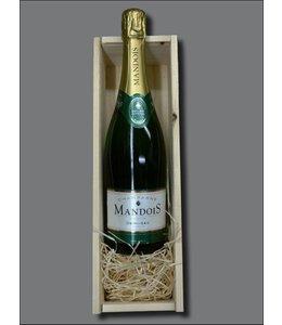 Champagne Mandois Demi-Sec + kistje