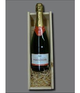 Champagne Mandois Brut Origine + kistje