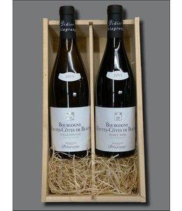 Bourgogne Hautes-Côtes de Beaune + kistje