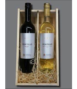 Portillo sauvignon blanc 2015 en malbec 2015 + kistje