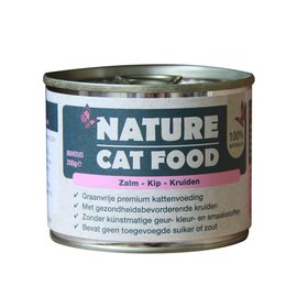 Nature Nature cat food zalm, kip & kruiden 200gr