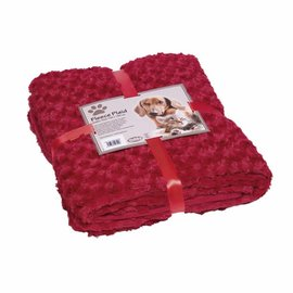 Nobby Deken Fleece 150x200 Bordeaux