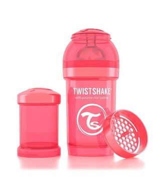 Twistshake TwistShake babyfles antikoliek 180 ml - Peach