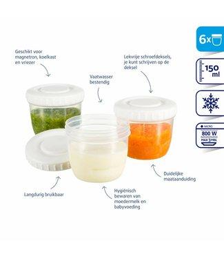 Difrax Difrax Lait maternel et récipients de stockage de nourriture pour bébé 150ml