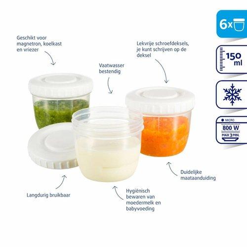 Difrax Difrax Moedermelk en babyvoeding bewaar bakjes 150ml