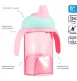 Difrax Difrax roze anti lek drinkbeker zachte tuit
