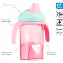 Difrax roze anti lek drinkbeker zachte tuit