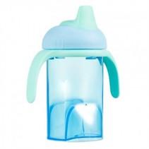 Difrax blauwe anti lek drinkbeker zachte tuit