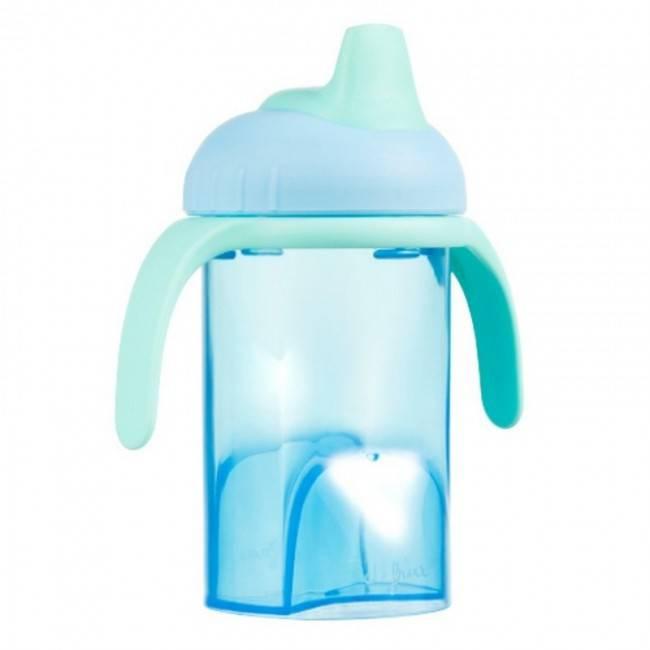 Difrax Difrax blauwe anti lek drinkbeker zachte tuit