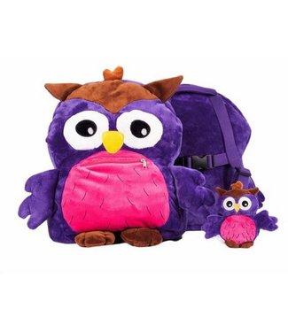 My Teddy Backpack purple owl My teddy