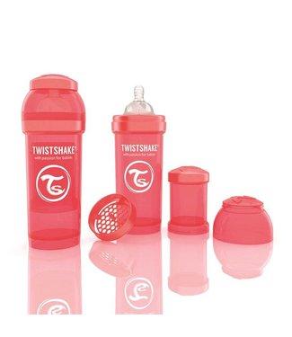 Twistshake TwistShake baby bottle anti-colic 260 ml - peach