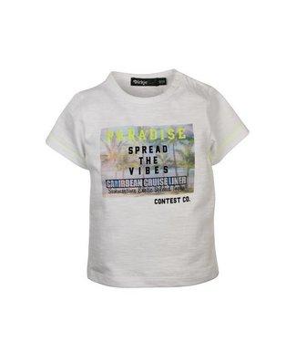 Dirkje kinderkleding Dirkje babywear witte jongens tshirt paradise