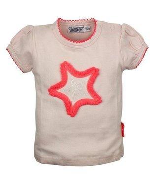 Dirkje kinderkleding Dirkje babywear licht roze meisjes tshirt met grote ster