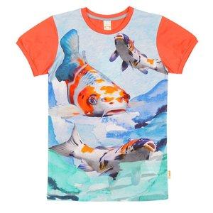 Wild kidswear Wild kidswear jongens tshirt Army Koi vissen