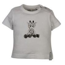 Dirkje babywear witte meisjes tshirt Giraf