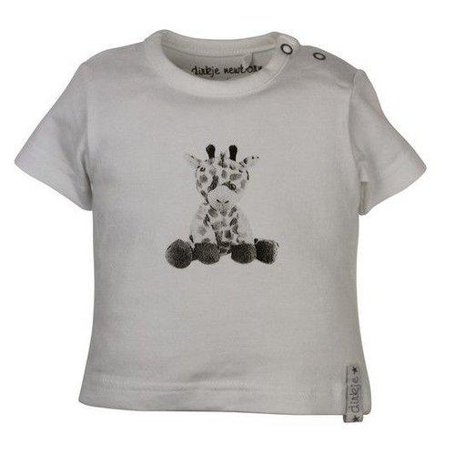 Dirkje kinderkleding Dirkje babywear witte meisjes tshirt Giraf