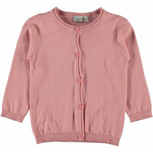 Name-it Name-it roze meisjes cardigan NITVAMINA