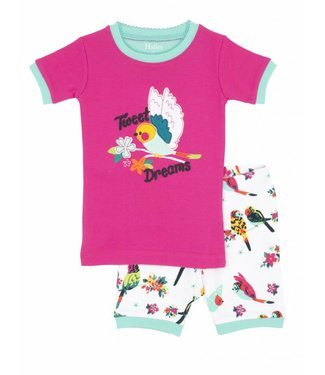 Hatley Hatley 2delige meisjes zomer pyjama Tropical Birds