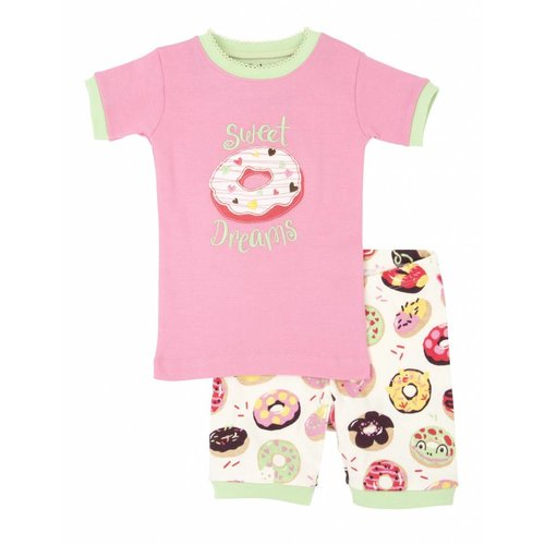 Hatley Hatley 2delige meisjes zomer pyjama Sweet Donuts