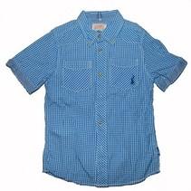 Blauw geruit jongens hemd LCKR
