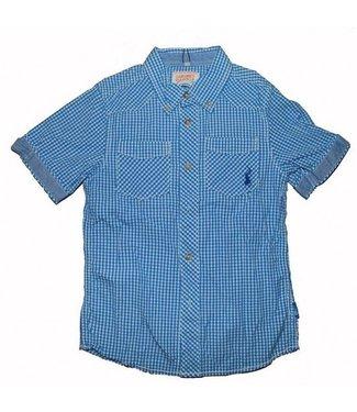 LCKR Blauw geruit jongens hemd LCKR