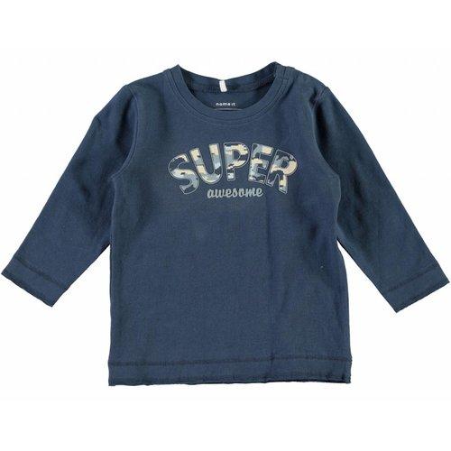 Name-it Name-it blauwe jongens newborn tshirt NITFEBS
