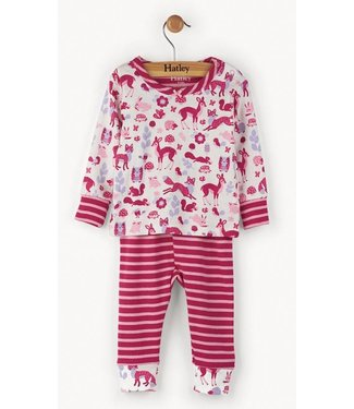 Hatley 2-piece girls pajamas woodland Hatley