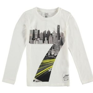 Name-it Witte jongens t-shirt NITKORU Name-it