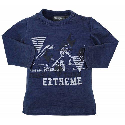 Dirkje kinderkleding Dirkje blauwe jongens t-shirt Extreme