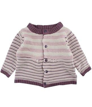 Fixoni Filles en tricot Cardigan à rayures Fixoni