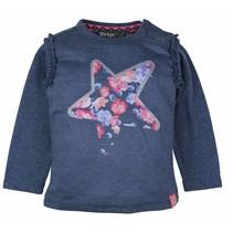 Dirkje blauwe meisjes t-shirt photoprint