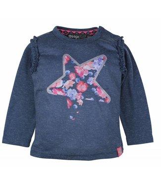 Dirkje kinderkleding Dirkje blauwe meisjes t-shirt photoprint