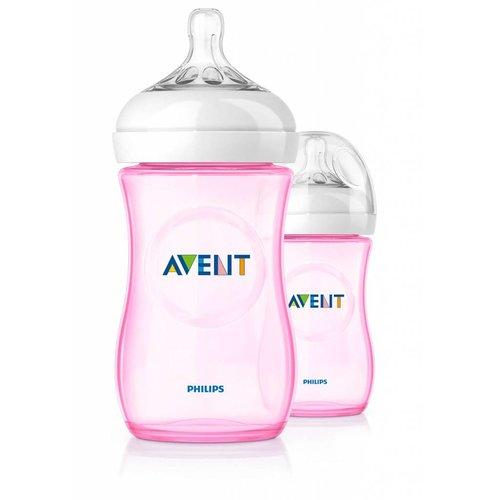 Avent Avent natural roze babyfles 260ml