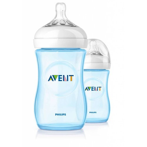 Avent Avent natural blauwe babyfles 260ml
