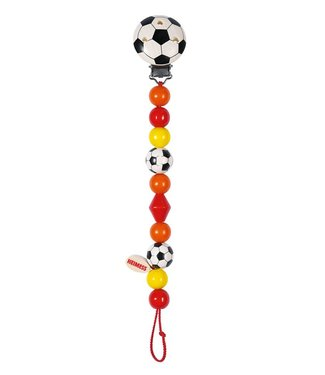 Heimess Heimess wooden pacifier chain football
