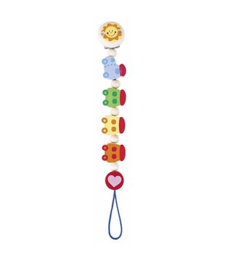 Heimess Heimess wooden pacifier chain train