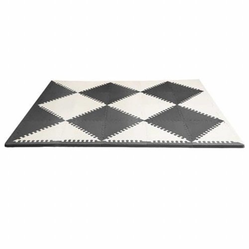Skip hop Puzzel speelmat Geo black/cream