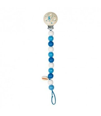 Heimess Heimess bleu chaîne de tétine en bois