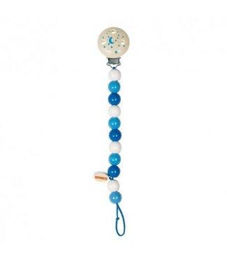 Heimess Heimess blue wooden pacifier chain