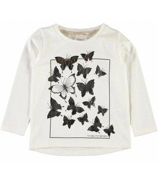 Name-it Witte meisjes t-shirt NMFGIRULLA