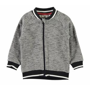 Name-it Grijze jongens sweat cardigan NMMGIFFER