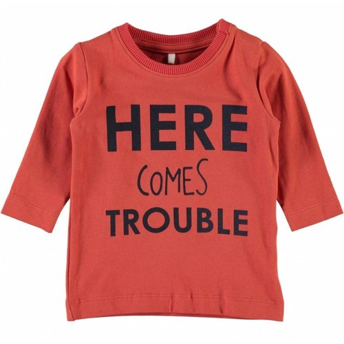 Name-it Oranje jongens t-shirt Gikko